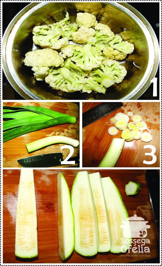 Ingredientes e couve